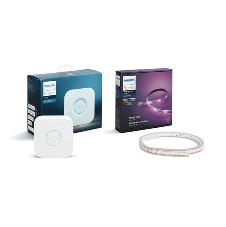 Philips HUE Bridge EU / 1,5W + Tira de led White&Color PHILIPS Hue 2mts